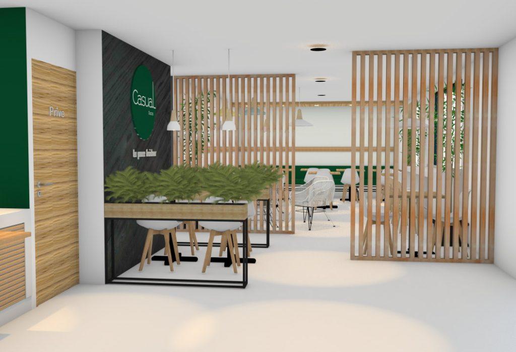 Casual restaurants plan 3D